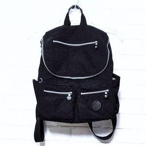 Kipling Black Zipper Backpack